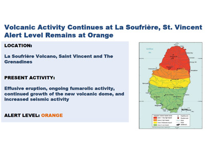 CDEMA Situation Report #4 - Effusive Eruption at La Soufriere Volcano, St. Vincent as of 8:00 pm (AST) on January 22nd, 2021