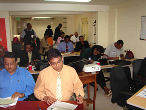 "A cross section of the participants at the ""Introduction to Disaster Risk Management"" training programme which took place recently in Port of Spain"