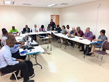 Members of the Eastern Caribbean Development Partner Group – Disaster Management (ECDPG) meeting at CDEMA in Barbados, Thursday September 29, 2016