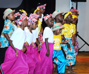 Students of Eva Hilton Primary School put on an energetic performance the Opening Ceremony of the Ninth Comprehensive Disaster Management Conference, Monday, November 30, 2015 at Melia Nassau Beach Resort.  (BIS Photo/Kemuel Stubbs)