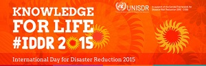 International Day for Disaster Reduction Logo. Photo Credit: United Nations Office for Disaster Risk Reduction