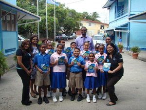 Students of Guaico Presbyterian Primary School with their Kids' Activity Books