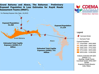 CDEMA Situation Report #7 - Hurricane Dorian as of 6:00PM (AST) on September 6th, 2019