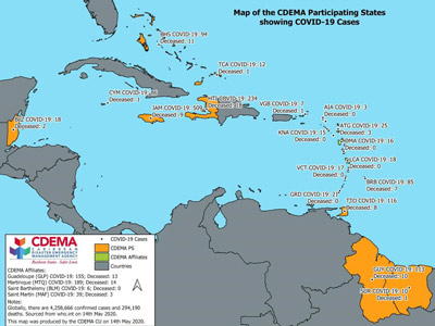 CDEMA Situation Report #10 - COVID-19 Outbreak in CDEMA Participating States - as of 8:00pm on May 14th, 2020