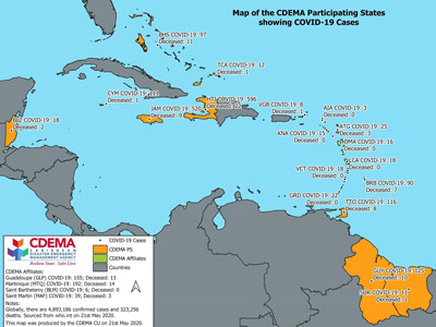 CDEMA Situation Report #11 - COVID-19 Outbreak in CDEMA Participating States - as of 8:00pm on May 21st, 2020