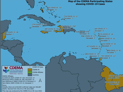 CDEMA Situation Report #13 - COVID-19 Outbreak in CDEMA Participating States - as of 8:00pm on June 4th, 2020