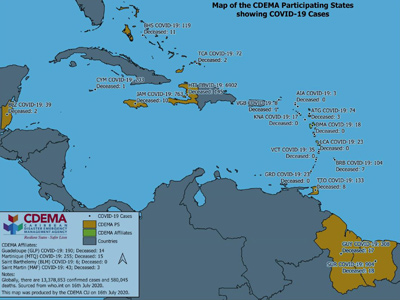 CDEMA Situation Report #18 - COVID-19 Outbreak in CDEMA Participating States - as of 8:00pm on July 16th, 2020