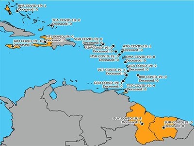 CDEMA Situation Report #1 - COVID-19 Outbreak in CDEMA Participating States - as of 8:00pm on March 16th, 2020