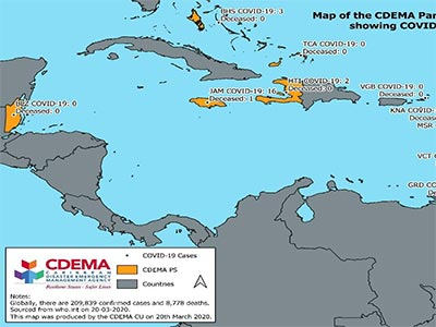 CDEMA Situation Report #2 - COVID-19 Outbreak in CDEMA Participating States - as of 11:00pm on March 20th, 2020