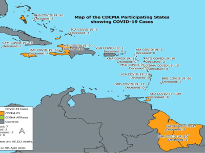 CDEMA Situation Report #5 - COVID-19 Outbreak in CDEMA Participating States - as of 8:00pm on April 9th, 2020
