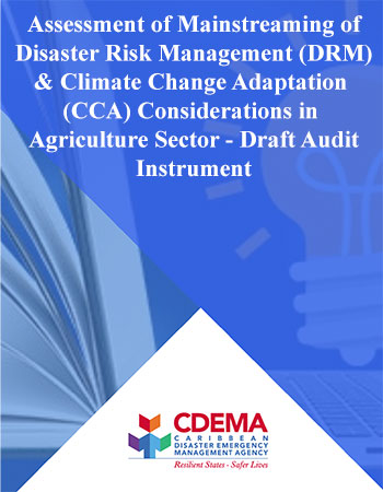 Annex I - Standardized Audit Instrument - Assessing DRM and CCA in Agriculture Sector October 2016