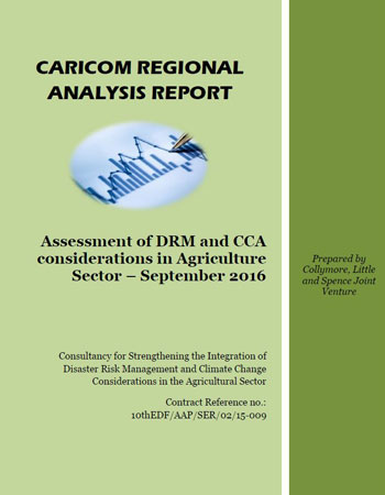 CARICOM Regional Analysis Report - Assessment of DRM & CCA consideration in Agriculture sector (September 2016)