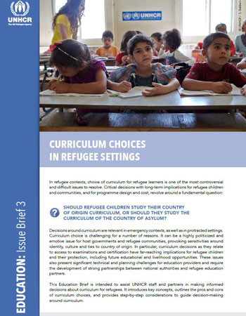Curriculum Choices in Refugee Settings