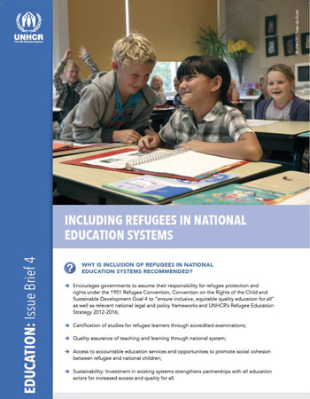 Including Regugees in National Education Systems