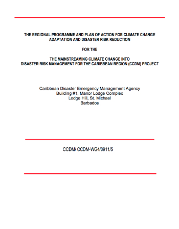 The Regional Programme & Plan of Action for Climate Change Adaptation
