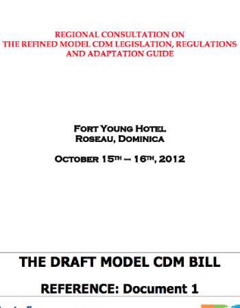 Draft Model CDM Bill