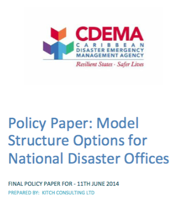 Final Policy Paper: Model Structure Options for National Disaster Offices
