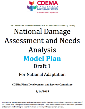 Model National Damage Assessment & Needs Analysis