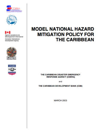 Model National Hazard Mitigation Policy For The Caribbean