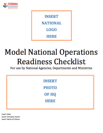 Model National Operations Readiness Checklist