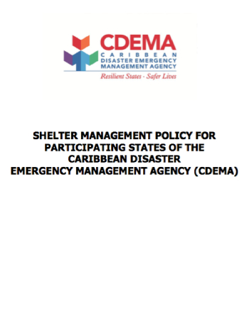 Shelter Management Policy For Participating States Of CDEMA